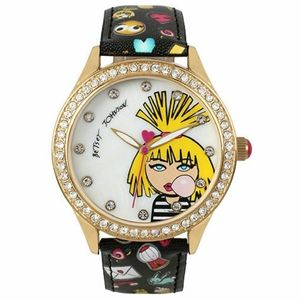 Betsey Johnson Emoji Band Bubble Gum Watch NIB NWT